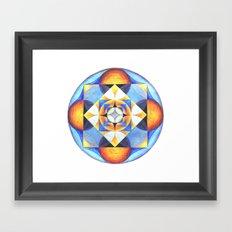 Solar Kaleidoscope (ANALOG zine) Framed Art Print