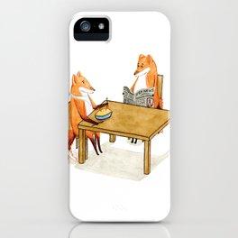 Foxy Dinner iPhone Case