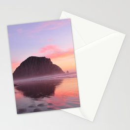 A Morro Bay Pink Sky At Sunset Stationery Cards