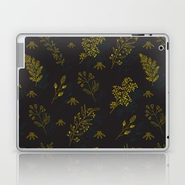Thin delicate lines silhouettes of different plants. Laptop & iPad Skin