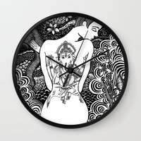 ganesha Wall Clocks featuring Ganesha by Judi Thomas