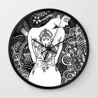 ganesha Wall Clocks featuring Ganesha by Judi Thomas