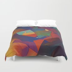 The Rocks by the Lighthouse Duvet Cover