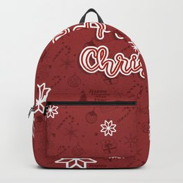 New Year, Christmas, winter holidays illustration Backpack