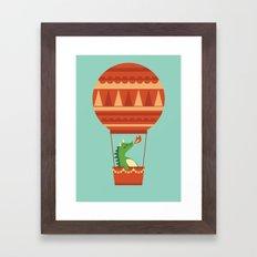 Dragon On Hot Air Balloon Framed Art Print