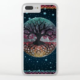 Autumn Esoteric Triple Moon V2 Clear iPhone Case