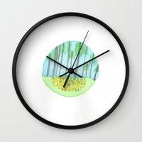 michigan Wall Clocks featuring Michigan  by karleegerrand