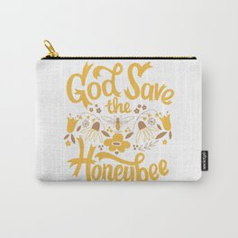 God Save the Honeybee Carry-All Pouch