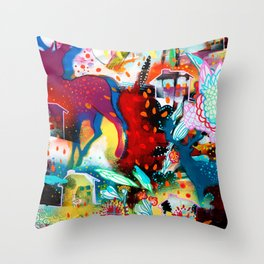 the nordic summer night Throw Pillow