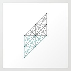 #232 The mad architect – Geometry Daily Art Print