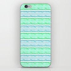 blue&green stripes iPhone & iPod Skin