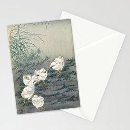 12,000pixel-500dpi - Ohara Koson - Top Quality Art - Five Chicks Stationery Cards