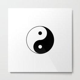 Yin Yang Taijitu Symbol Metal Print
