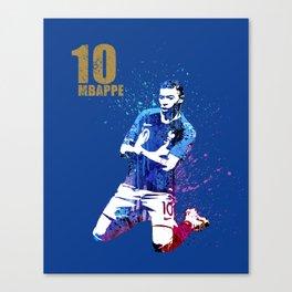 Sports art _ France world cup football 2018 Canvas Print
