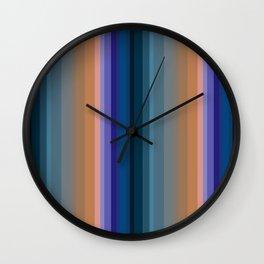 Multi-colored striped pattern 2 Wall Clock