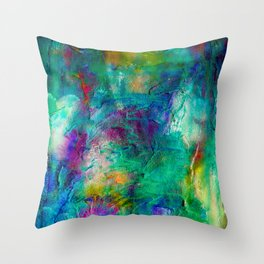 Snowdrops in April Throw Pillow