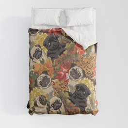 Because Pugs Autumn Comforters