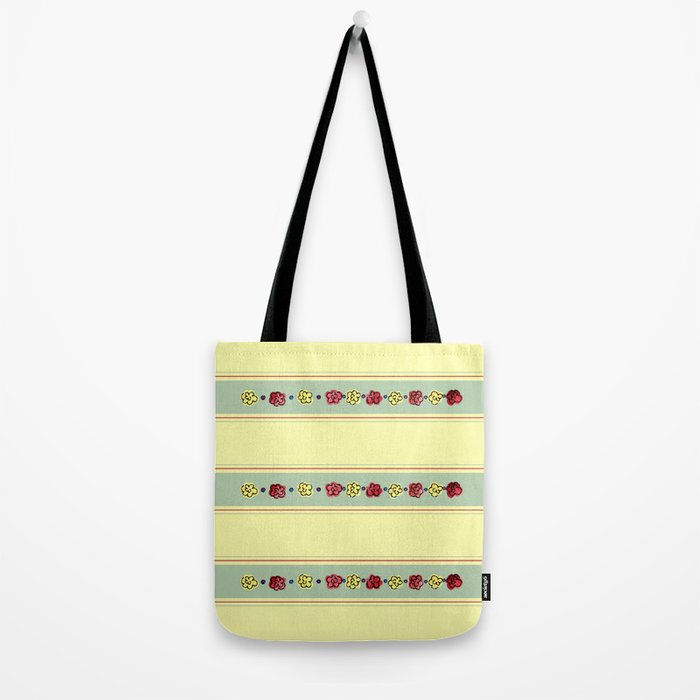 A Rosey Outlook Yellow Tote Bag