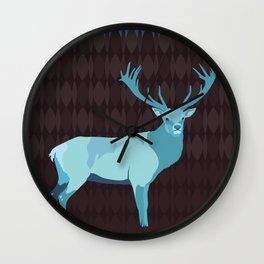 Winter Deer Wall Clock