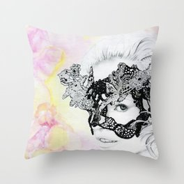 Lily - the leading lover Throw Pillow