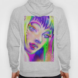 rainbow colorful girl Hoody