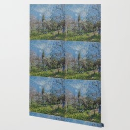 Alfred Sisley - Orchard In Spring Wallpaper