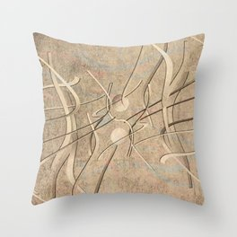 string theory. 2019. silver Throw Pillow