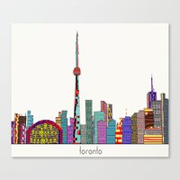 toronto Canvas Prints featuring Toronto by bri.buckley