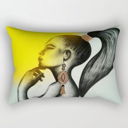 Amazonian Girl Rectangular Pillow