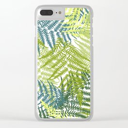 Fern frond seamless pattern Clear iPhone Case