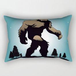 Bigfoot Silhouette Illustration. Rectangular Pillow
