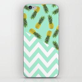 blue pineapple chevron iPhone Skin