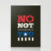 stucky Stationery Cards featuring No, Not Without You!! by MemoryRecovery