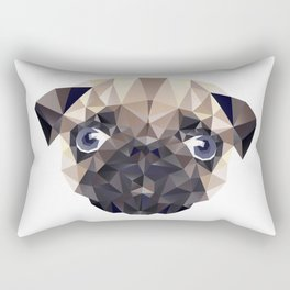 Pug Diamonds Rectangular Pillow