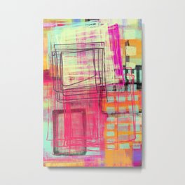 working some things out - abstract painting Metal Print