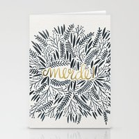 french Stationery Cards featuring Pardon My French – Black & Gold by Cat Coquillette