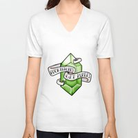 zelda V-neck T-shirts featuring Zelda by Danni Fuentes