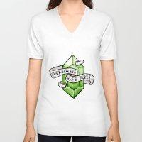 legend of zelda V-neck T-shirts featuring Zelda by Danni Fuentes