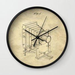Industrial Farmhouse Blueprint Camera Wall Clock