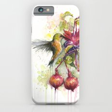 Hummingbird and Fuchsia Watercolor iPhone 6s Slim Case