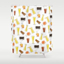 Beer Styles Shower Curtain