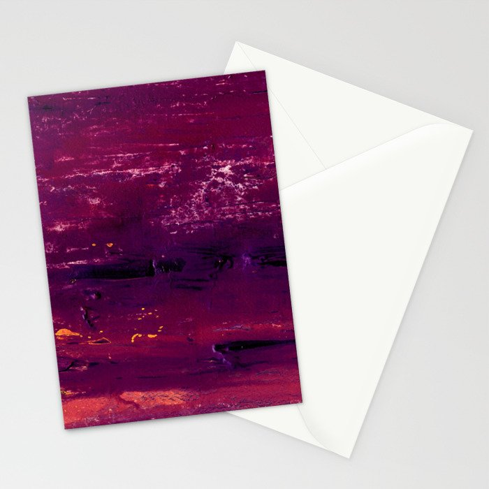 purple atmosphere Stationery Cards