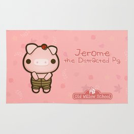 Jerome the Distracted Pig Rug