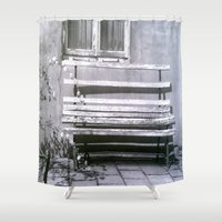 jewish Shower Curtains featuring Many quiet moments to rest by Brown Eyed Lady