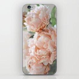Peach Peonies iPhone Skin