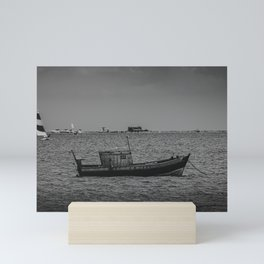The old fisherman boat Mini Art Print