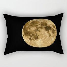 Telescopic Photograph of Earth's Moon Rectangular Pillow