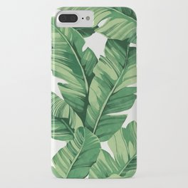 Tropical banana leaves iPhone Case