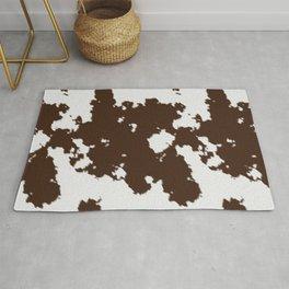 Realistic cow hide pattern Rug