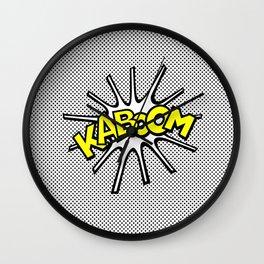 Kaboom Wall Clock